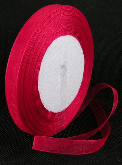 Lint en draad en koord rollen lint materiaalsoort organza lint organza lint 10 mm - Organza dekostoff rollen ...