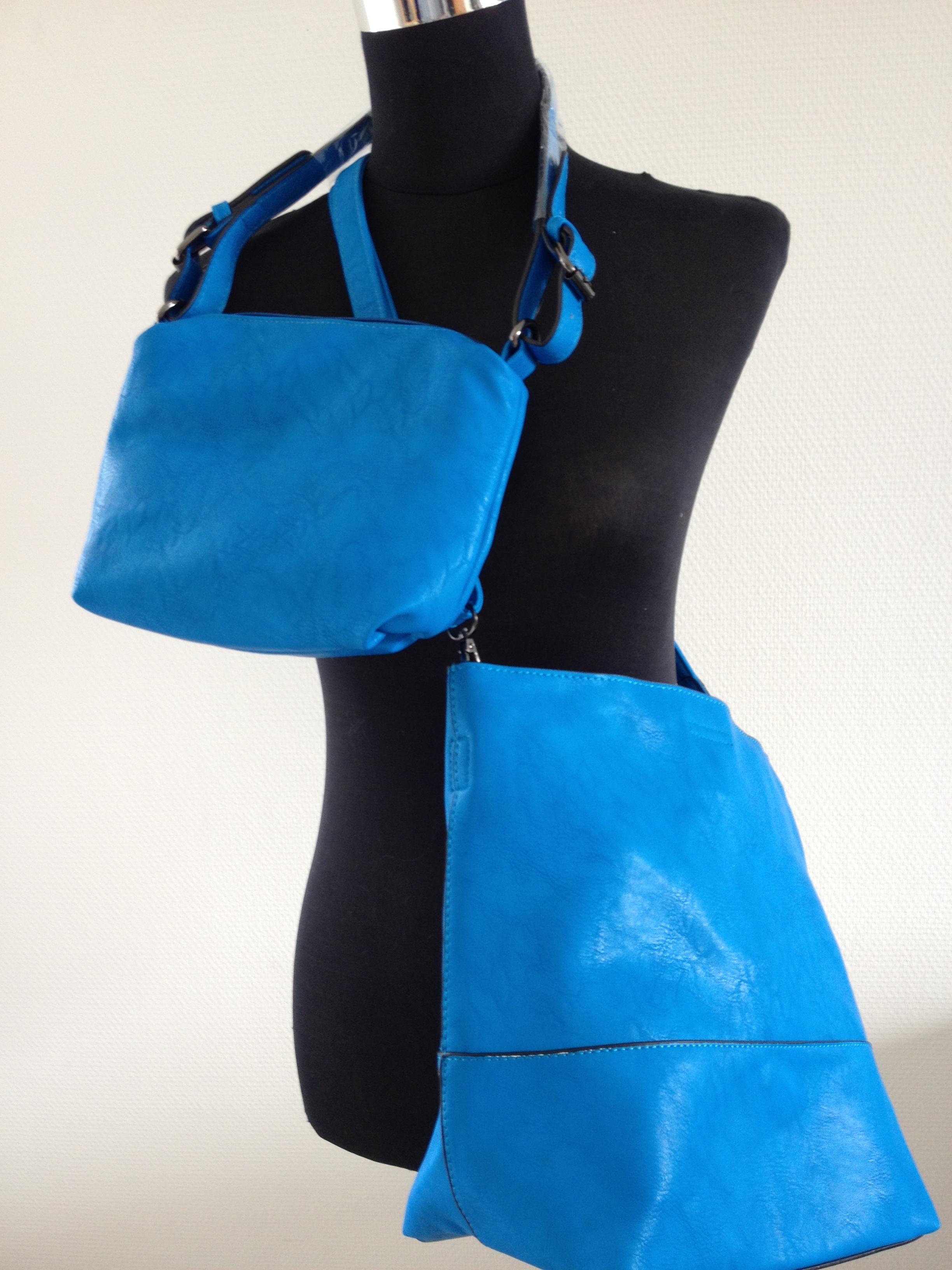Bijoux    Tassen    Mooie trendy 2 in 1 blauwe tas met schouderband 0aeb5bad55